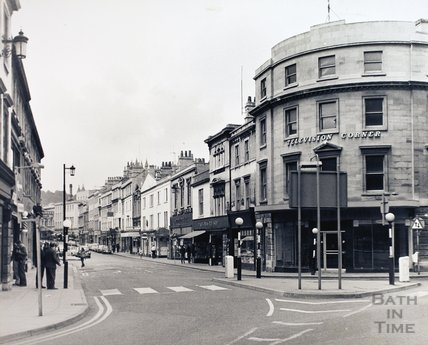 Southgate Street looking north from Dorchester Street, pre 1971