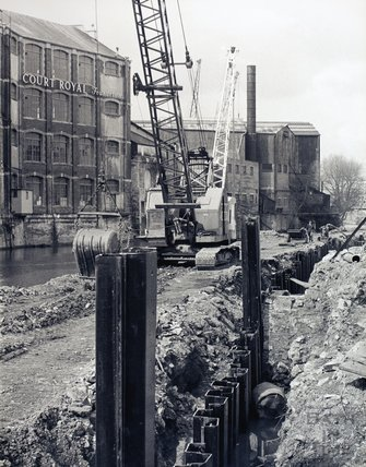 Flood Prevention works, River Avon, near Avon Street, pre 1973