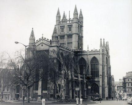 Bath Abbey from the Orange Grove, pre 1973
