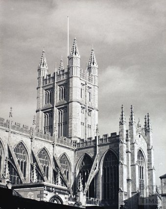 Bath Abbey from the south west, pre 1973