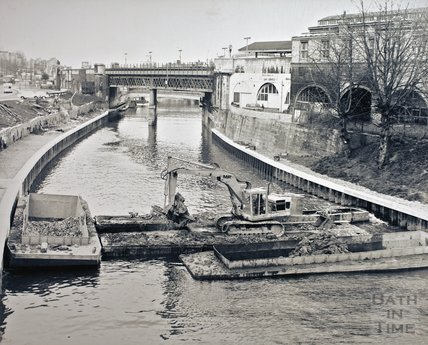 River improvements opposite Claverton Street, c.1965