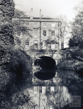 Cleveland House on the Kennet and Avon Canal, viewed from Sydney Gardens, Bath pre-1973