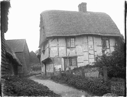 Timber framed house, thought to be Wantage, Oxfordshire, c.1930s