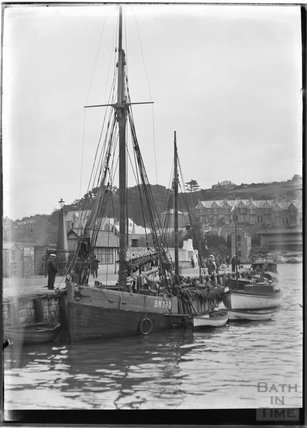 Fishing boat at Brixham, Devon, c.1930s