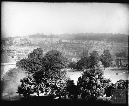 View across Henrietta Park to Camden Crescent c.1910s