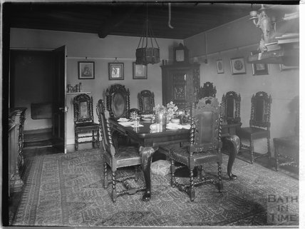 Inside unidentified house, 1937