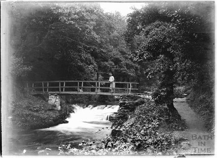 Unidentified river scene with bridge, c.1930s