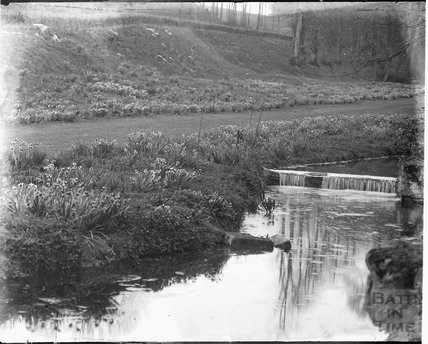 River scene, thought to be Wantage, Oxfordshire, c.1930s