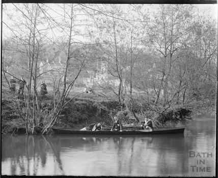 Riverside scene, Bathampton c.1900