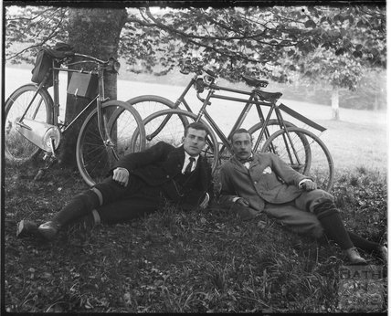 Posing on a cycling trip c.1900