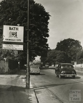 Bath Georgian City, gateway to the city on London Road, c.1966