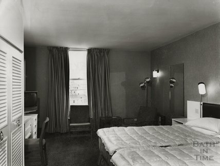 An example bedroom, Beaufort Hotel, Walcot Street, c.1973