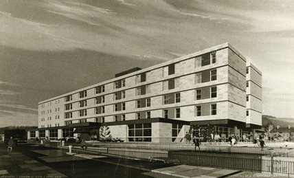 Architect's impression of the Beaufort Hotel, January 1970