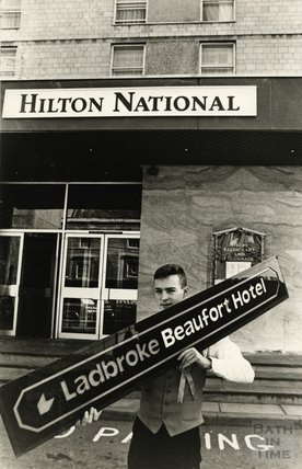 Rebranding the Beaufort to the Hilton Hotel, Walcot Street, Bath, 13 April 1988