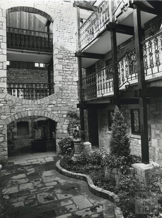 Caxton Court, Grove Street after restoration and conversion, 11 October 1980