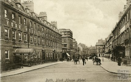 The York House Hotel, George Street, Bath, c.1914