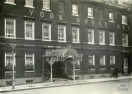 The York House Hotel, George Street, Bath, c.1932