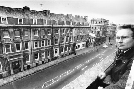 The old Royal York Hotel, George Street, Bath, 6 November 1992
