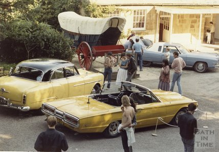 A collection of American cars at the American Museum in Britain, 8 September 1986