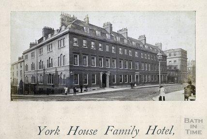 The York House Hotel, George Street, Bath, c.1870