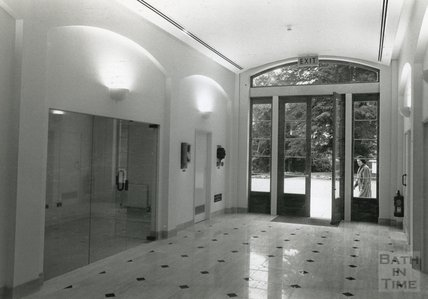 Inside the newly completed Gallery Building at the American Museum in Britain, 19 October 1988