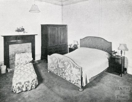 One of the Double Bedrooms at Pratts Hotel, 1950