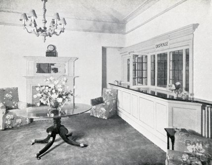 The Hall Lounge and Office at Pratts Hotel, 1950