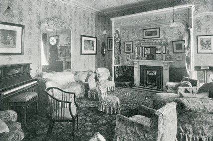The Drawing Room at Pratts Hotel, South Parade, Bath, c.1925