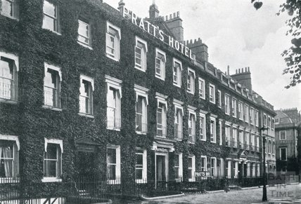 The exterior of Pratts Hotel, South Parade c.1925