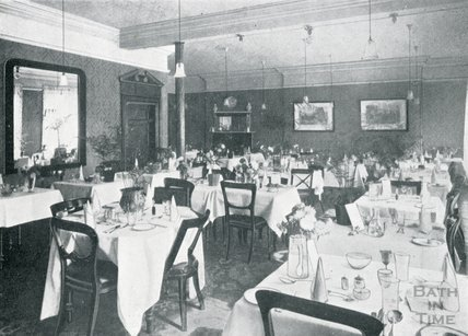 The Dining Room at Pratts Hotel, South Parade, Bath, c.1925