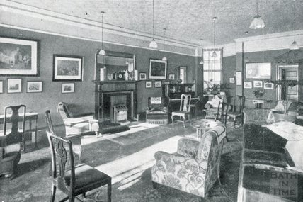 The Lounge at Pratts Hotel, South Parade, Bath, c.1925