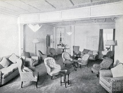 A Lounge at Pratts Hotel, 1950