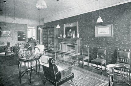 The Hall Lounge at Pratts Hotel, South Parade, Bath, c.1925