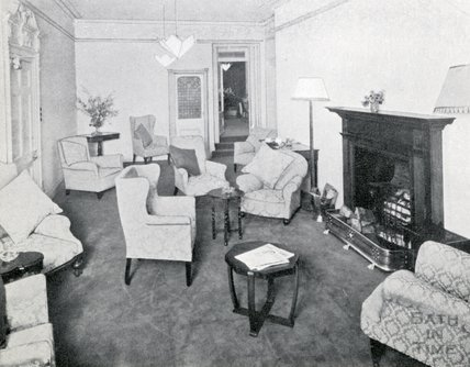 The Drawing Room at Pratts Hotel, 1950