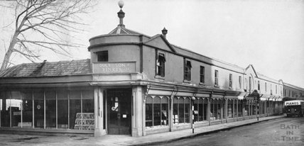The main showroom of Duck Son & Pinker, Pulteney Bridge, Bath 1948