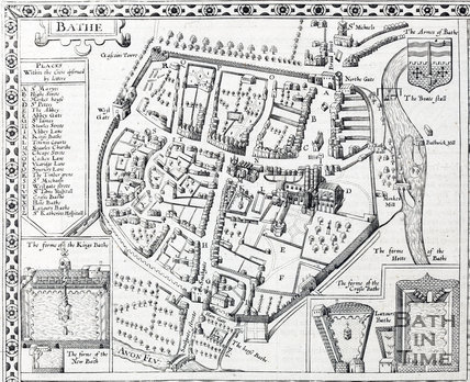 City of Bath, Somersetshire, Speed 1610 - detail