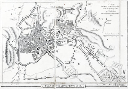 Detail of the City of Bath, A Topographical Map of the County of Somerset, Day and Masters 1803