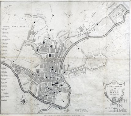 A New and Accurate Plan of the City of Bath, Taylor & Meyler 1793