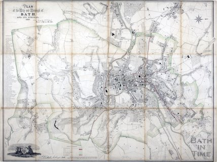 Plan of the City and Borough of Bath and its Suburbs, Cotterell 1852