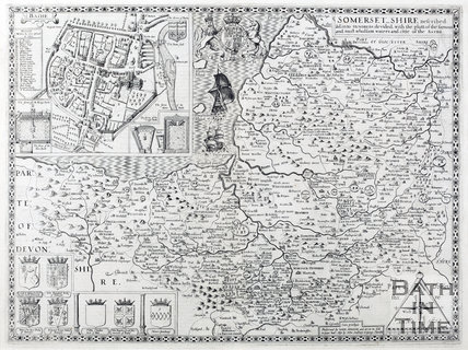 John Speed's Map of Somersetshire 1610