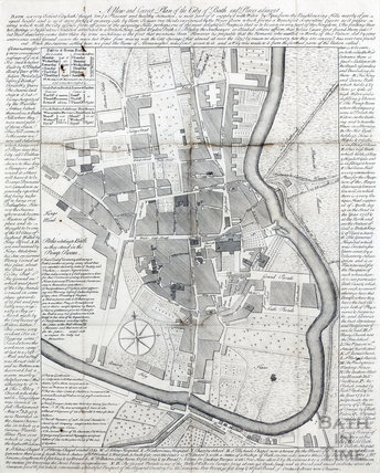 A New and Correct Plan of the City of Bath, Anon 1750