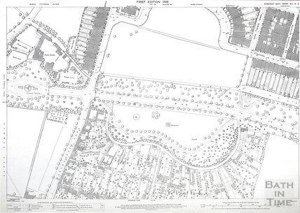 Bath 1:500 OS map Sheet XIV.5.3 1886