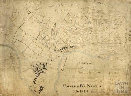 A Plan of the Parish of Walcot, Thomas Thorpe 1740