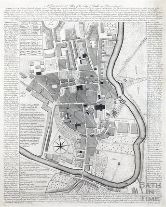 A New and Correct Plan of the City of Bath c.1764