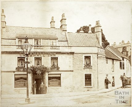 Outside the Larkhall Inn, Larkhall c.1890