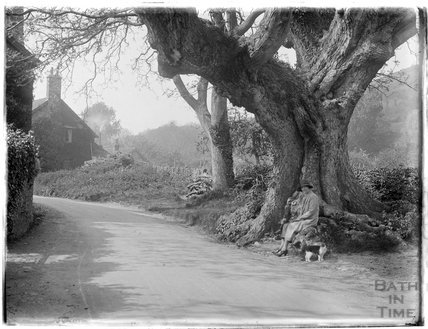 The photographer's wife Violet, possibly at Allerford, near Minehead, 1926