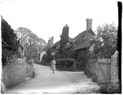 A village street in the Minehead area, 1930