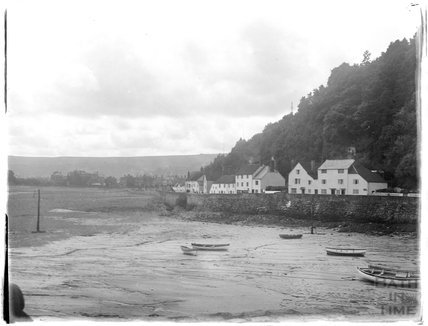 Minehead seafront, viewed from the quay, 1927
