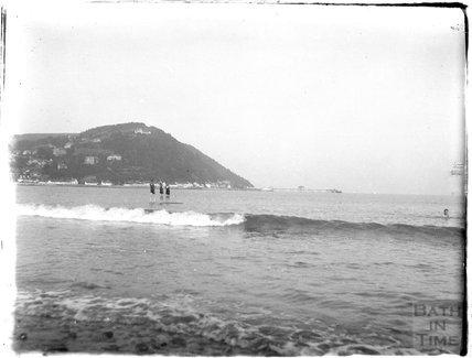 Bathing at Minehead, 1927
