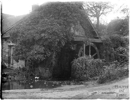 Piles Mill with waterwheel, Allerford, near Minehead, 1930